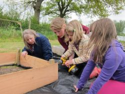 Families on the Farm - making a planter Gallery